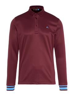Mens Olle TX Peached Polo - Slim Fit Dark Mahogany
