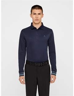 Mens Olle TX Peached Polo - Slim Fit JL Navy