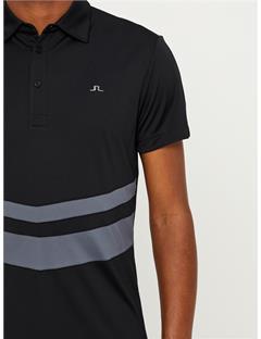 Double Stripe TX Jersey Polo Black