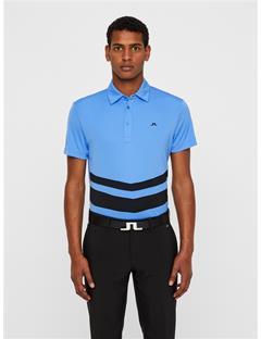 Double Stripe TX Jersey Polo Silent Blue