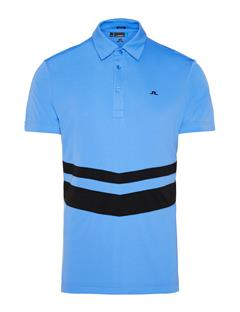 Mens Double Stripe TX Jersey Polo Silent Blue