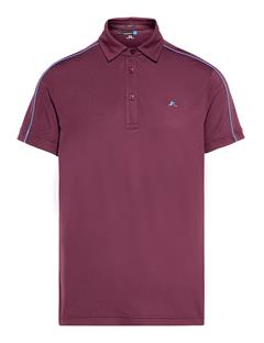 Mens Club T Lux Pique Polo Dark Mahogany