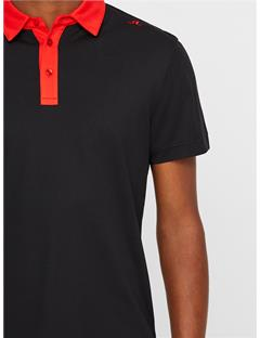 Henry Lux Pique Polo Black
