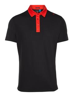 Mens Henry Lux Pique Polo Black