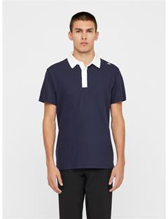 Mens Henry Lux Pique Polo JL Navy