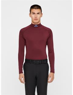 Mens Aello Soft Compression Layer Dark Mahogany
