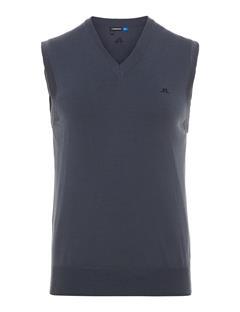 Mens Lynfa 2.0 True Merino Sweater Vest Dk Grey