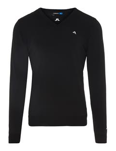 Mens Newman V-Neck Tour Merino Sweater Black