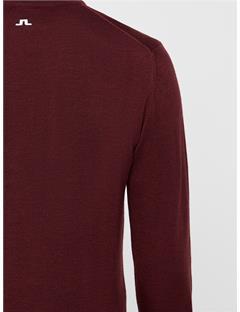 Newman V-Neck Tour Merino Sweater Dark Mahogany