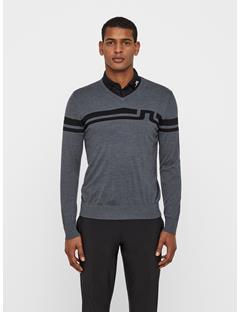 Mens Joel Coolmax Cashmere Sweater Dk Grey
