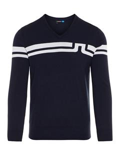 Mens Joel Coolmax Cashmere Sweater JL Navy