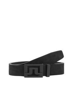 Mens Slater 40 Brushed Leather Belt Black