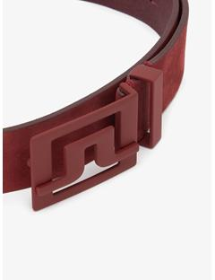 Slater 40 Brushed Leather Belt Dark Mahogany