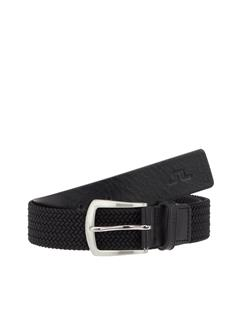Mens Caspian Elastic Braid Belt Black