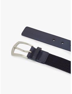 Mens Caspian Elastic Braid Belt JL Navy