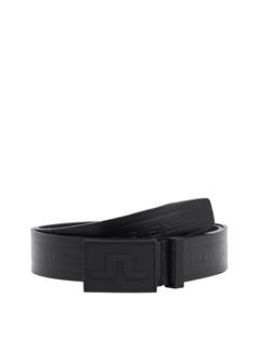 Mens Reveresed Logo Pro Leather Belt Black
