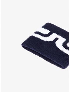 Mens Striped Bridge Cotton Sweatband JL Navy