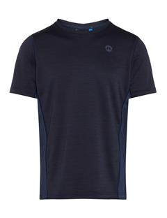 Mens Curved Run Melange Jersey T-shirt JL Navy