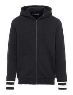 Mens Cyrus French Terry Zip Up Hoodie Black