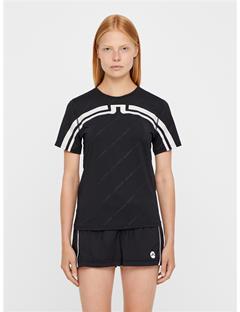 Womens Belgin Jersey T-shirt Black Print