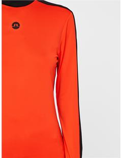 Womens Adele Soft Compression Top Poppy Red