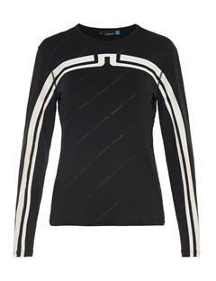 Womens Berit Jersey T-shirt Black Print