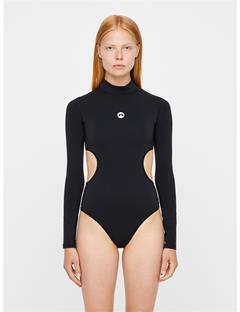 Womens Emie Compression Bodysuit Black