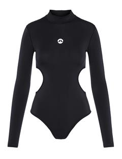 Womens Emie Compression Bodysuit Black