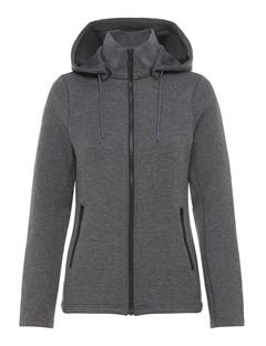 Womens Louna Tech Sweat Zip Up Hoodie Grey Melange