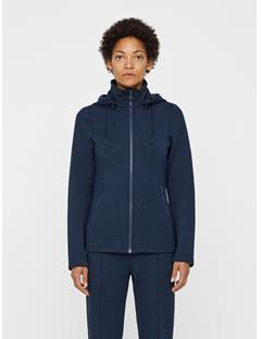 Womens Louna Tech Sweat Zip Up Hoodie Navy melange