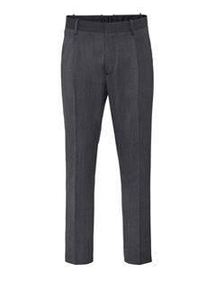 Mens Mike Wool Twill Pants Dk Grey