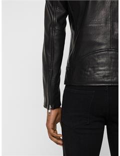 Lense Summer Leather Jacket Black