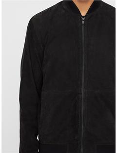 Thom Nubuck Bomber Jacket Black