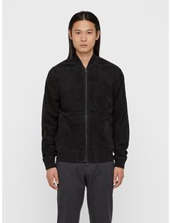 Mens Thom Nubuck Bomber Jacket Black