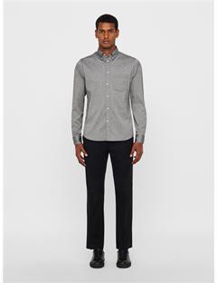 Mens Daniel Stretch Oxford Shirt Dk Grey