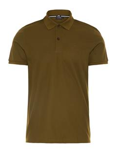 Mens Troy Clean Pique Polo Dark Olive