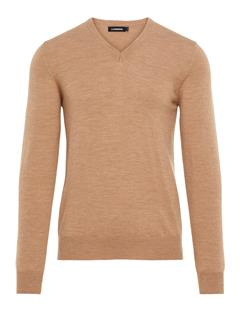 Mens Lymann True Merino Sweater Beige Melange