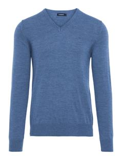 Mens Lymann True Merino Sweater Blue Melange