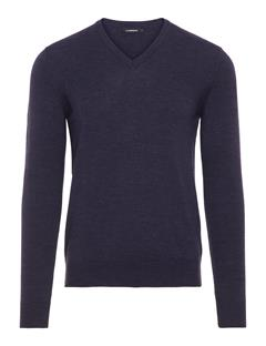 Mens Lymann True Merino Sweater Anthracite Mel