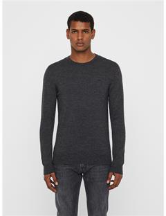 Mens Lyle True Merino Sweater Black Mouline