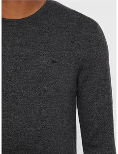 Lyle True Merino Sweater Black Mouline