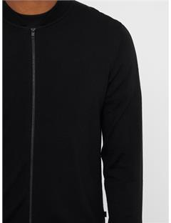 Lyam True Merino Sweater Bomber Jacket Black