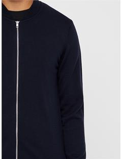 Lyam True Merino Sweater Bomber Jacket JL Navy