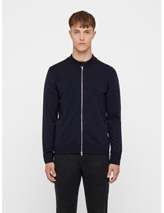 Mens Lyam Merino Sweater Bomber JL Navy