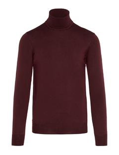 Mens Lyd True Merino Turtleneck Sweater Zinfandel