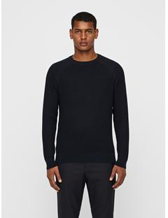 Mens Randers Small Structure Ribbed Sweater Black
