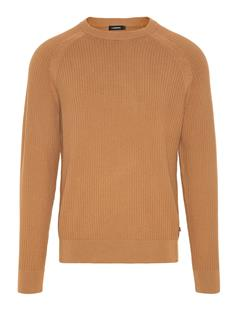 Mens Randers Small Structure Ribbed Sweater Burro