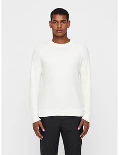 Mens Randers Small Structure Ribbed Sweater Cloud Dancer