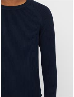 Randers Small Structure Ribbed Sweater JL Navy