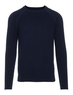 Mens Randers Small Structure Ribbed Sweater JL Navy